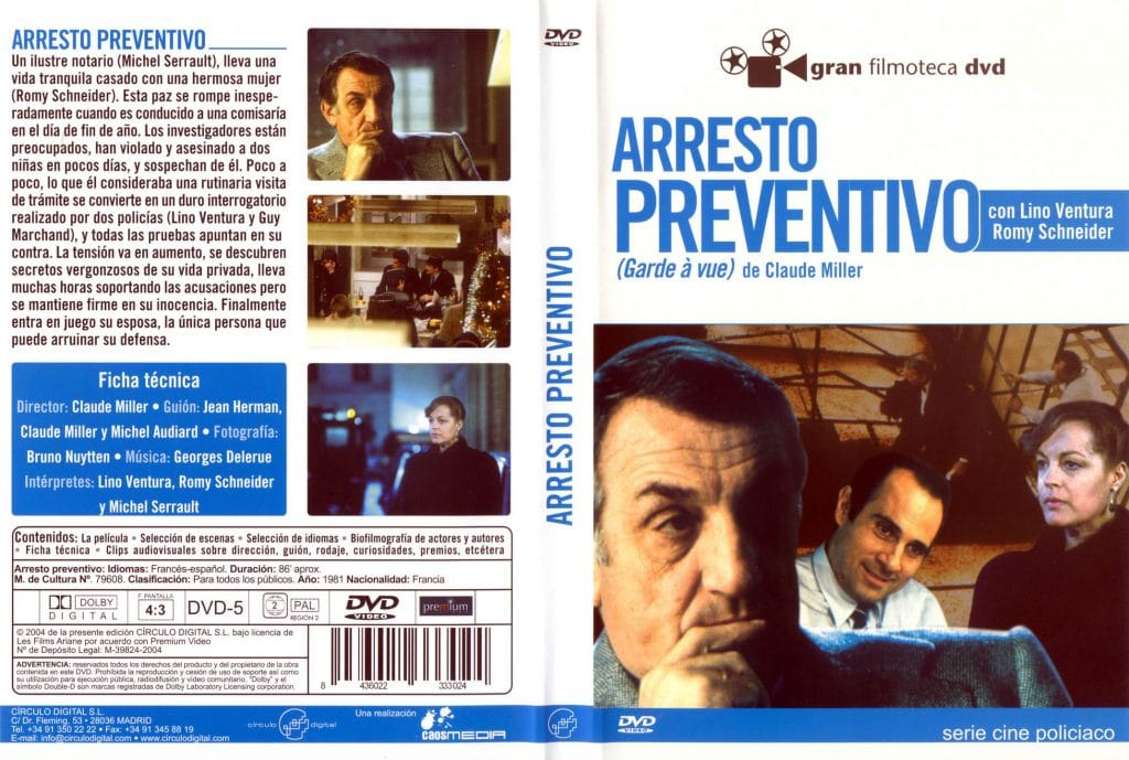 Carátula dvd: Arresto preventivo