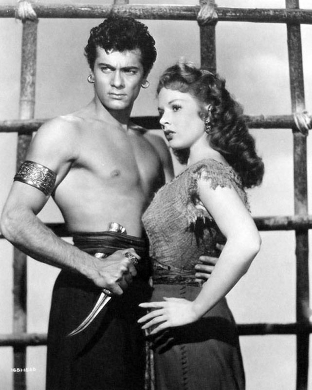 Tony Curtis y Piper Laurie